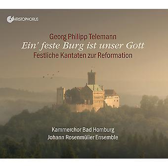 Telemann / Johann Rosenmuller Ensemble - Ein' Feste Burg Ist [CD] USA import