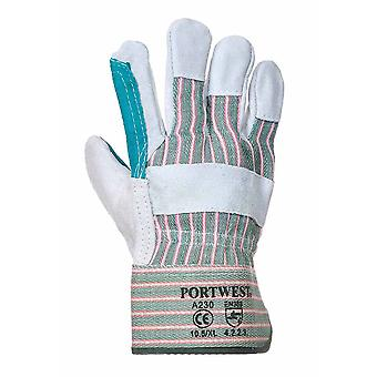 Portwest - Double Palm Rigger-Builders-Gardeners Glove (6 Pair Pack)