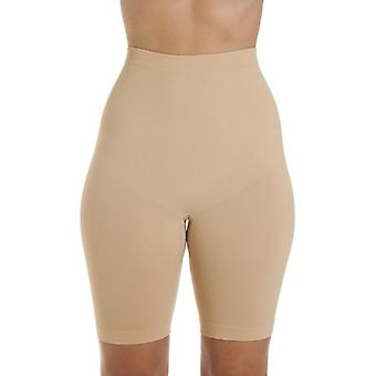 Camille Womens Seamfree Shapewear komfort sterowania uda szczuplejsze Brief w beż