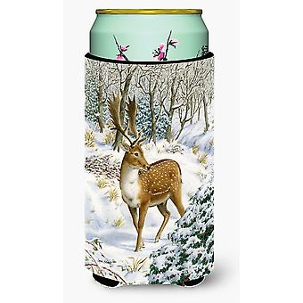 Fallow Buck Deer Tall Boy Beverage Insulator Hugger