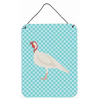 Beltsville petit blanche de dinde poule bleu cocher mur ou porte suspendue imprime