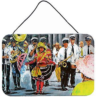 Taniec w ulicach Mardi Gras ściany lub drzwi wiszące drukuje
