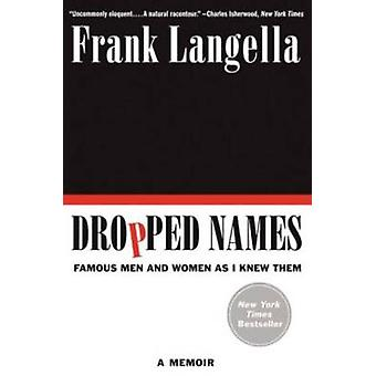 Dropped Names by Langella & Frank