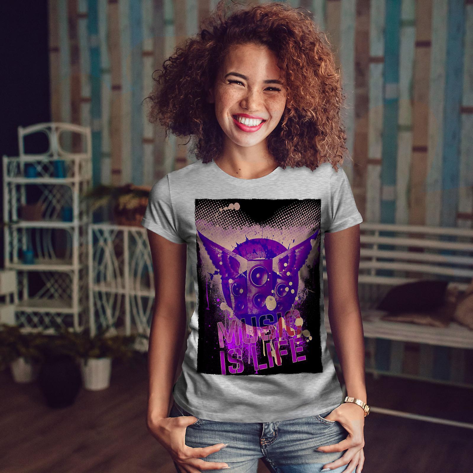 Maison de vie danse musique GreyT-chemise femme   Wellcoda