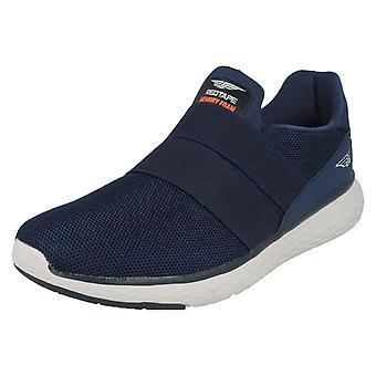 Mens Redtape Casual Slip On Trainers RSC0064 - Navy Textile - UK Size 10 - EU Size 44 - US Size 11