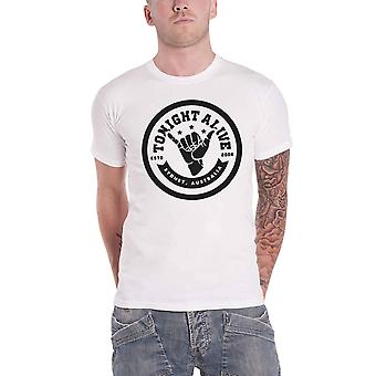 Tonight Alive T Shirt Sydney Australia Est 08 Band Logo Official Mens New White
