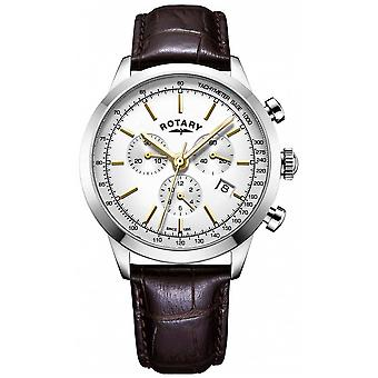 Rotary Mens Cambridge chronograph leather GS05253/02 Watch
