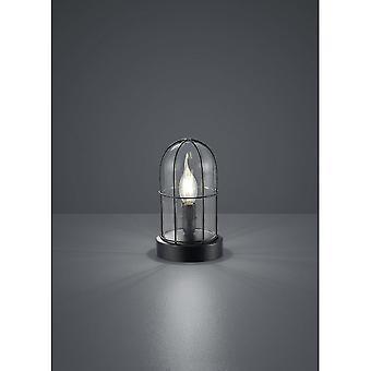 Trio Beleuchtung Birte Vintage schwarz Metall Tischlampe