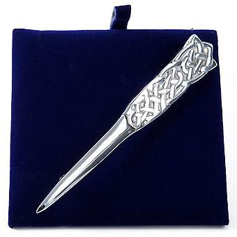 Celtic Knotwork Pewter Kilt Pin