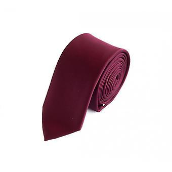 Schlips Krawatte Krawatten Binder 6cm rot weinrot uni Fabio Farini