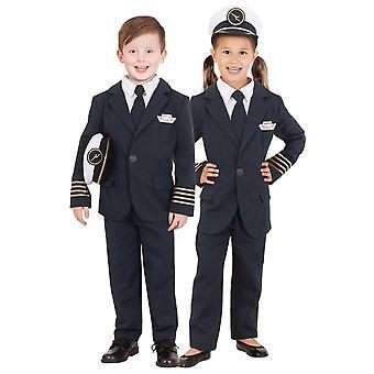 Qantas kapitein Uniform Airline Pilot vlucht bezetting meisjes jongens kostuum