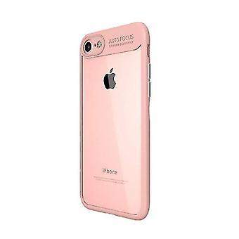 Stuff Certified® iPhone 8 Plus - Auto foco armadura caso cubrir Cas silicona TPU caso rosa