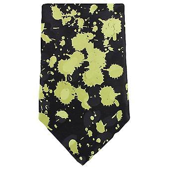 Cravatte di Knightsbridge spruzzata della vernice cravatta - nero/verde