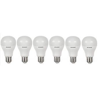 6 x Sylvania GLS A60 10W = 60W LED Light Bulb E27 Warm White 2700K 810lm [Energy Class A+]