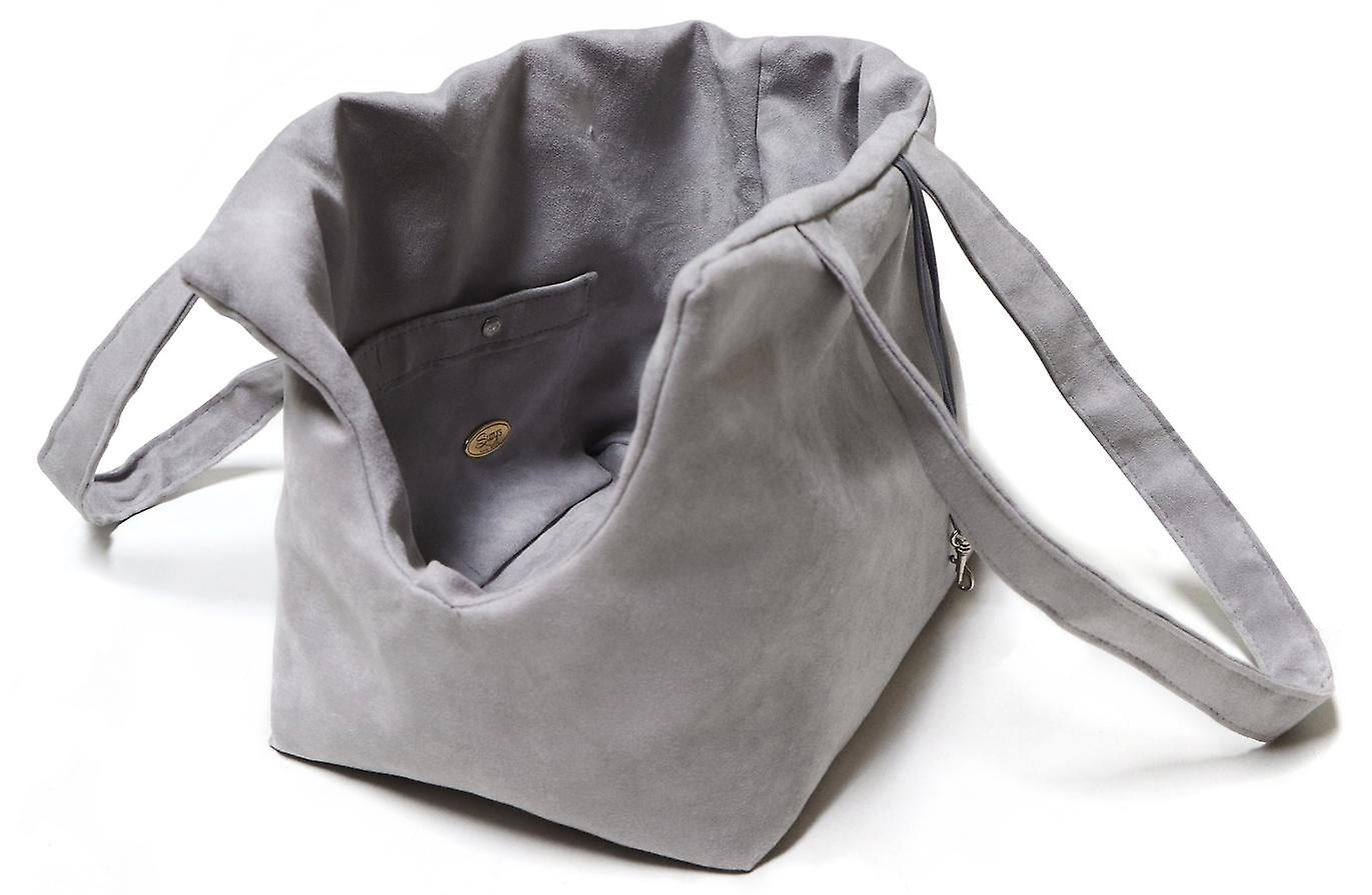 Grey Xuede reversible Dog/Pet Carry bag