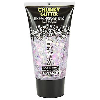 Paintglow Chunky Glitter HolographicUV Cosmetic Face Body Gel Carnival Chaos50ml