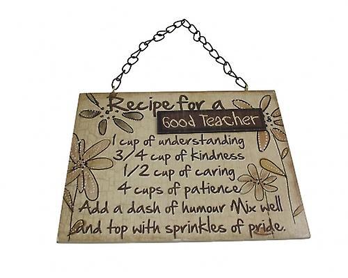 Recipe for a Good Teacher Wooden Gift Plaque