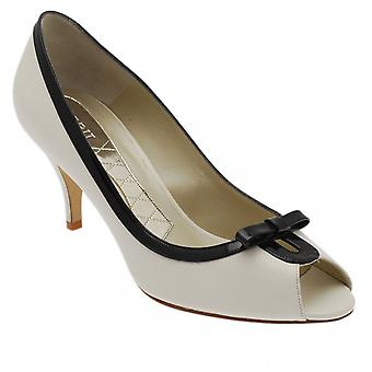 Magrit High Heel Peep Toe Court Shoe With Bow