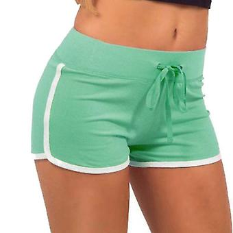 Women's training shorts-groen en wit