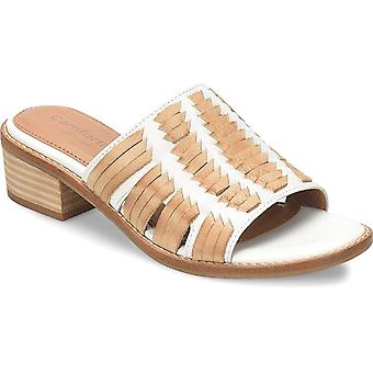 Comfortiva Womens Brileigh Leather Open Toe Casual Mule Sandals