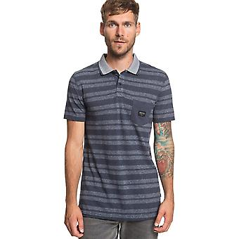 Quiksilver Remember When Polo Shirt in Blue Night