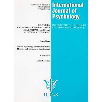 Psicologia sociale intorno al mondo origini e lo sviluppo successivo