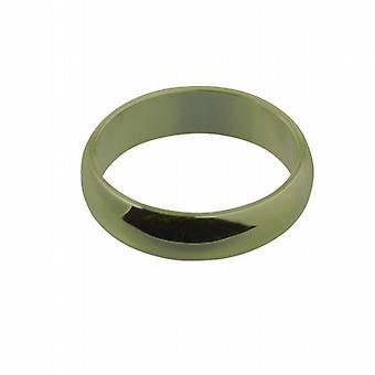 9ct goud 6mm platte D-vormige trouwring grootte Z