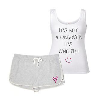 Es ist kein Kater ist es Wein Grippe Pyjama