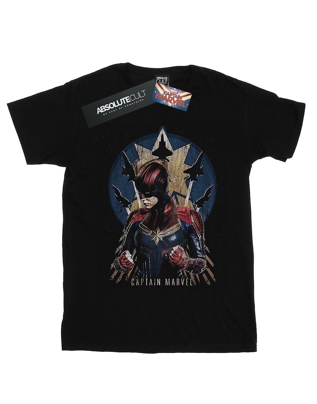 Marvel Men's Captain Marvel Jet Burst T-Shirt