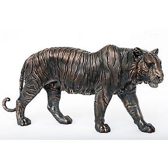 46,5 cm Bronze Tiger ornamento Home Office decoração Polyresin