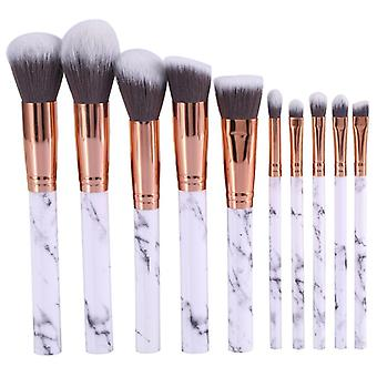 10pcs Professional Makeup Brushes, ensembles de maquillage, marbre