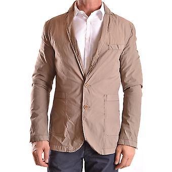 Bikkembergs Ezbc101033 Men's Beige Nylon Outerwear Jacket