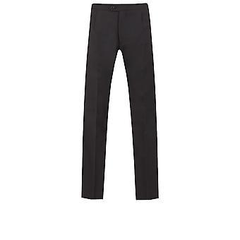 ・ ドベル メンズ黒夜白のネクタイ ズボン ウール 100% サテン側ストライプ