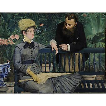 Talvipuu tarhassa Edouard Manet, 50x38cm