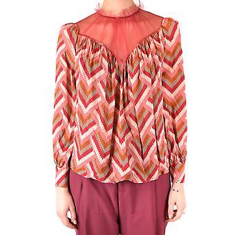 Elisabetta Franchi Ezbc050178 Women's Blusa Viscose Multicolor