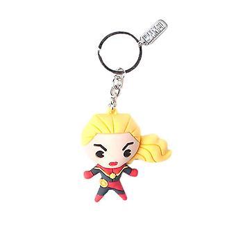Captain Marvel Kawaii 3D Keychain