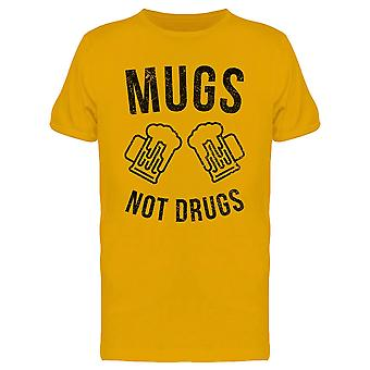 Mugs Not Drugs Funny Beer Graphic Men's T-shirt