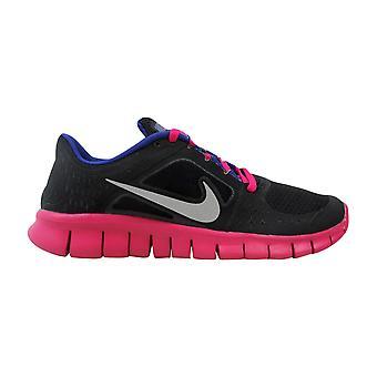 Nike Free Run III 3 GS Black/Reflect Silver-Fireberry 512098-004 Grade-School
