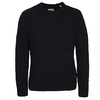 Edwin Denim Crew Neck Oiler Sweater, Dark Navy