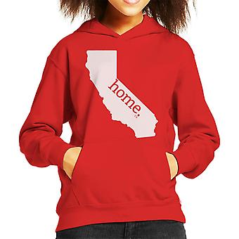 Californien er mit hjem Flock Kid's hættetrøje
