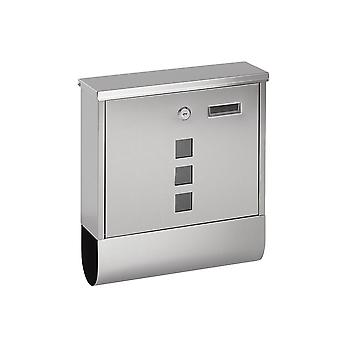 Lockable Wall Mounted Mail/ Letter/ Post Box - Fente journal - 2 Clés (Argent)
