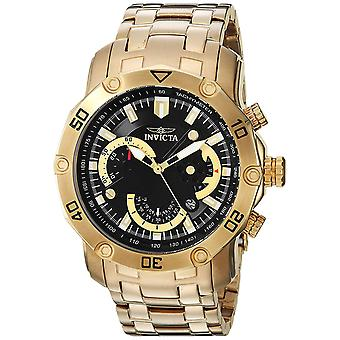Invicta Gold-Tone Stainless Steel Chronograph Mens Watch 22767