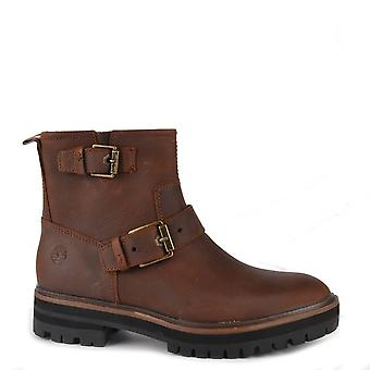Timberland Women's London Square Brown Full Grain Biker Boot
