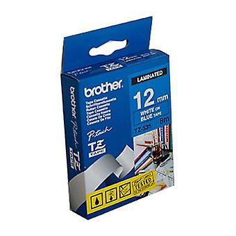 Brother TZe535 White On Blue Labeling Tape