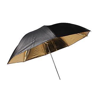 BRESSER SM-01 Paraguas reflectante negro/oro 101cm