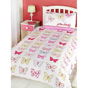 Fly Up High Butterfly Duvet Cover & Pillowcase Set
