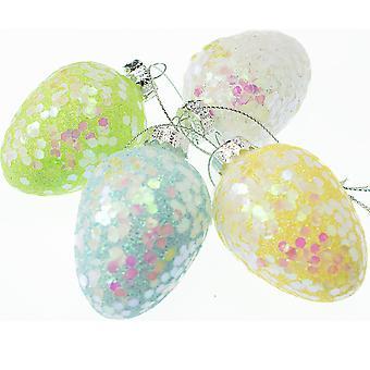 6cm qui brillaient fortement suspension boule de verre pour les arbres de Pâques