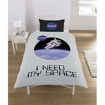 NASA I Need My Space Single Duvet Cover Set