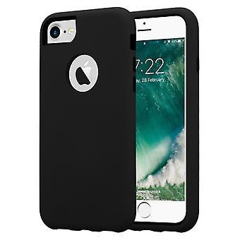 Cadorabo Hülle für Apple iPhone 7 / iPhone 7S  / iPhone 8 Case Cover - Hybrid Handyhülle mit TPU Silikon Innenseite und 2teiliger Kunststoff Außenseite – Schutzhülle Hybrid Hardcase Back Case