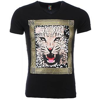 Camiseta-Tigre Print-Negro